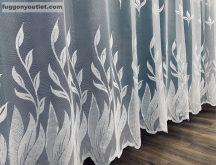 Készre vart függöny kard virag fehér színű 300 cm szeles 200cm magas