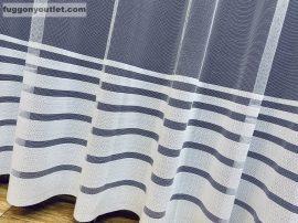 Készre vartt függöny modern vékony Csikos fehér színű 300cm szeles 280 cm magas