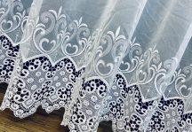 Csipkés függöny méterben fehér színű 280 magas (kétsoros csipke) 216091547