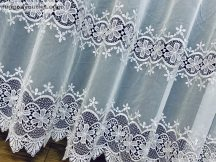 Csipkés függöny méterben fehér színű 280 magas (kétsoros csipkes) 216091613