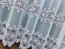 Csipkés függöny méterben fehér színű 280 magas (kétsoros csipkes)
