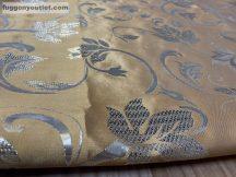 Kész függöny sötétítő selyem Narancs alapon arany színű ( 2 darab =140 cm szeles 260 cm magas )