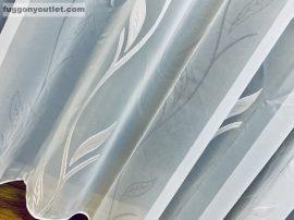 Celen Függöny méterben árnyékoloilevel voál mintás fehér színű 280 cm magas