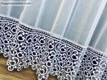 Csipkés kész függöny sima voál (fehèr 30 cm csipke )fehér színű 300 cm szeles 175 cm magas