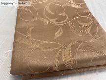 Kész sötétítő függöny indáslevél selyem  terra színű ( 2 darab =140 cm szeles 180 cm magas )