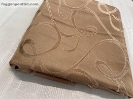 Kész sötétítő függöny indás selyem  terra színű ( 2 darab =140 cm szeles 180 cm magas )