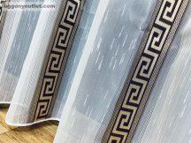Készre vartt függöny görögmintas fehér alapon barna színű 300cm szeles 180cm magas
