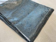 Kész sötétítő függöny  selyem szürke alapon szürke színű ( 2 darab =140 cm szeles 260 cm magas