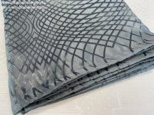 Kész sötétítő függöny Moderna  selyem sötétszürke színű ( 2 darab =140 cm szeles 260 cm magas )