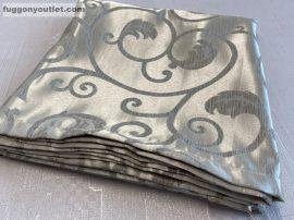 Kész sötétítő függöny indásleveles selyem arany színű ( 2 darab =140 cm szeles 260 cm magas )