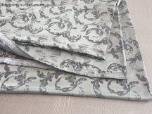 Kész sötétítő függöny szürkeinda selyem világos szürke alapon szürke színű ( 2 darab =140 cm szeles 260 cm magas )