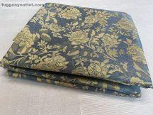 Kész sötétítő függöny szürkeinda selyem  szürke alapon mustár színű ( 2 darab =140 cm szeles 260 cm magas )