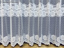 Készre vart függöny forgovirag fehér színű 300 cm szeles 180 cm magas