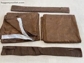 kész sötétitő függöny sima ada selyem csokibarna  színű ( 2 darab =130 cm szeles 260 cm magas )