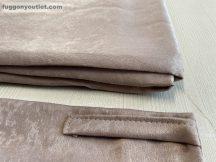 Kész sötétítő függöny sima ada selyem mályva színű ( 2 darab =130 cm szeles 260 cm magas ) oldal kötős 2 db