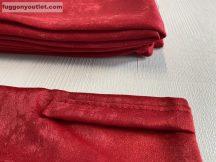Kész sötétítő függöny sima ada selyem piros színű ( 2 darab =130 cm szeles 260 cm magas ) oldal kötős 2 db
