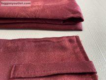 Kész sötétítő függöny sima ada selyem bordo színű ( 2 darab =130 cm szeles 260 cm magas ) oldal kötős : 2 db