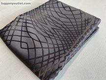 Kész sötétítő függöny barna csíkos selyem  csoki barna színű ( 2 darab =140 cm szeles 260 cm magas )