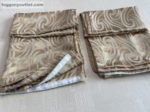 Kész sötétítő függöny árnyék-inda selyem  krem színű ( 2 darab =140 cm szeles 260 cm magas )