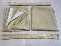 Kész sötétítő függöny sima ada selyem krem  színű ( 2 darab =130 cm szeles 260 cm magas ) oldal kötős 2 db