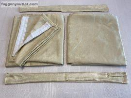kész sötétitő függöny sima ada selyem krem  színű ( 2 darab =130 cm szeles 260 cm magas )