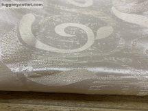 Kész sötétítő függöny fényesinda selyem krem színű ( 2 db =140 cm széles 260 cm magas )