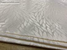 Kész sötétítő függöny apró leveles selyem krem alapon krem  színű ( 2 darab =140 cm szeles 180 cm magas )