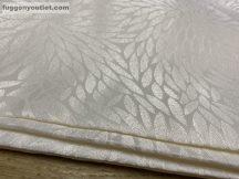 Kész sötétítő függöny apróleveles selyem krem színű ( 2 db =140 cm széles 260 cm magas )