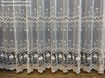Csipkés függöny méterben vegtelen kétsoros csipkes krem színű 280 magas
