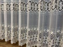 Csipkés függöny méterben rozsa kétsoros csipkes krem színű 280 magas