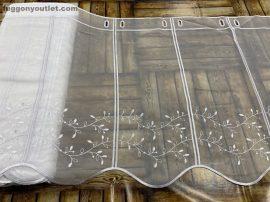 Vitrázs függöny folyóméter aprolevel fehér  színű 45 cm magas