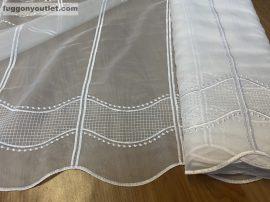 Vitrázs függöny méterben lanc  fehér színű 60 cm magas