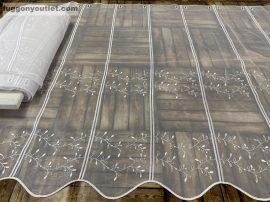 Vitrázsfüggöny folyóméter aggos  fehér színű 90 cm magas