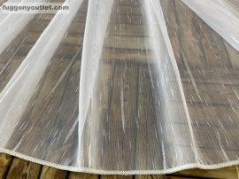 Függöny készre vart 4711-24 voal fehér alapon fehér színű 400cm szeles 260 cm magas