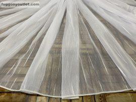 Függöny folyómeter (4711-34) lenes voal féheralapon féher színű 280 cm magas