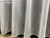 Kesz függöny (4711-fekete5) fehér alapon fekete színű 500 cm szeles 260 cm magas