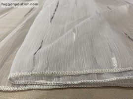 Függöny folyómeter ( 4711-szurke )lenes voal fehér szürke színű 280 cm magas