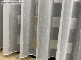 függöny készre vart (4988aranyezust) Fehér alapon arany ezüst 300cm szeles 260cm magas