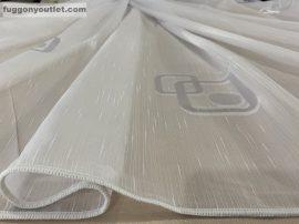 függöny készre vart (4988feher3) Fehér alapon fehér 300cm szeles 260cm magas