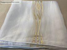 függöny készre vart ( 5039arany4) Fehér alapon arany szinü voal 400cm szeles 260cm magas