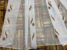 Függöny folyómeter (5045-10) lenes voal féheralapon barna színű 280 cm magas