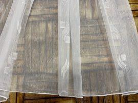 Függöny folyómeter (5045-24) lenes voal féheralapon féher színű 280 cm magas