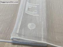 Függöny készre vart ( 5082feher5) lenn  voal fehér alapon fehér színű 500cm szeles 260 cm magas