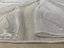 Függöny folyómeter ( 5086-feher )lenes voal féher színű 280 cm magas