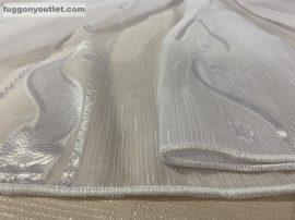 Függöny folyómeter ( 5086-feher )lenes voal fehér színű 280 cm magas