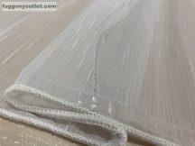 Függöny készre vart (5124-feher3) voal fehér alapon fehér színű 300cm szeles 260 cm magas