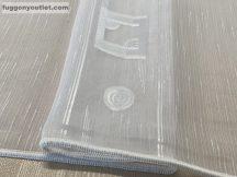 Függöny folyóméter ( 5182-feher)lenes voal fehér színű 280 cm magas