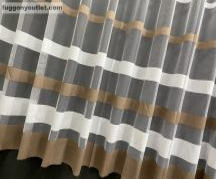 Függöny folyómeter (barnacsikos) zsakard feher barna színű 280 cm magas