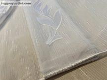 Függöny készre vart (Celen-feher3 ) lenn  voal fehér alapon fehér színű 300cm szeles 260 cm magas