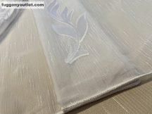 Függöny készre vart (Celen-feher5 ) lenn  voal fehér alapon fehér színű 500cm szeles 260 cm magas